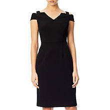 Buy Adrianna Papell Cold Shoulder Fitted Sheath Dress, Black Online at johnlewis.com
