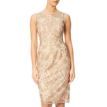 Buy Adrianna Papell Sleeveless Embroidered Floral Cocktail Dress, Rose Gold/Nude Online at johnlewis.com