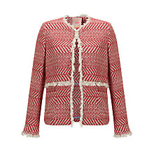 Buy Vilagallo Miranda Jacket, Red/Ecru Online at johnlewis.com