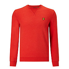Buy Lyle & Scott Crew Neck Sweatshirt, Flame Red Marl Online at johnlewis.com