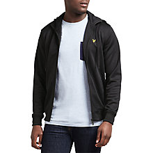Buy Lyle & Scott Funnel Neck Full Zip Hoodie, True Black Online at johnlewis.com