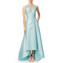 Buy Adrianna Papell Lace And Mikado Ballgown, Aqua Glass Online at johnlewis.com