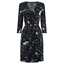 Buy Oasis Sherwood Crepe Wrap Skater Dress, Navy Online at johnlewis.com