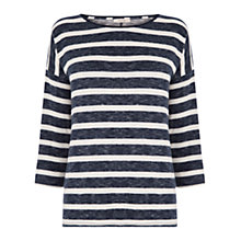 Buy Oasis Stripe Luxe Slouch Sleeve Top, Multi Online at johnlewis.com