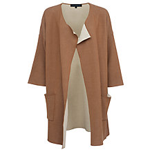 Buy French Connection Gemini Knit Cardigan, Terra Tan/Classic Cream Online at johnlewis.com