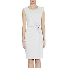 Buy Gina Bacconi Moss Crepe Dress With Waist Detail, Silver Mist Online at johnlewis.com