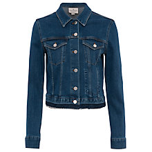 Buy French Connection Neat Trucker Denim Jacket, Tinted Vintage Online at johnlewis.com
