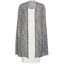 Buy Gina Bacconi Itsy Crepe Dress And Chiffon Cape, Chalk Light Online at johnlewis.com