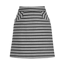 Buy Oasis Cutabout Stripe Skirt, Multi Black Online at johnlewis.com