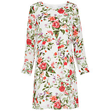 Buy Gina Bacconi Summer Garden Long Sleeve Chiffon Dress, Sage Red Online at johnlewis.com