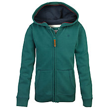 Buy Fat Face Boys' Graphic Zip Through Hoodie, Evergreen Online at johnlewis.com