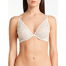 Buy Calvin Klein Underwear Seductive Comfort Lace Multiway Bra, Ivory Online at johnlewis.com