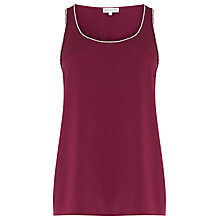 Buy Warehouse Embellished Vest, Berry Online at johnlewis.com