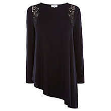 Buy Coast Fayth Jersey Top, Black Online at johnlewis.com