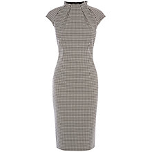 Buy Karen Millen Micro Check Dress, Black/White Online at johnlewis.com