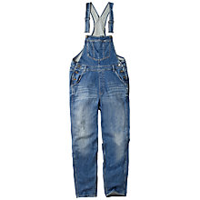 Buy Fat Face Denim Dungarees, Blue Online at johnlewis.com
