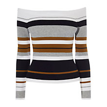 Buy Karen Millen Off Shoulder Engineered Top, Multi Online at johnlewis.com