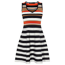 Buy Karen Millen Full Skirted Stripe Dress, Multi Online at johnlewis.com