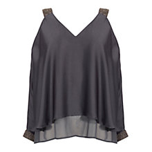 Buy Coast Hyacinth Top, Gunmetal Online at johnlewis.com