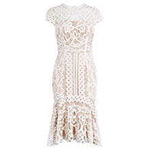 Buy Coast Dee Dee Short Length Lace Dress, Neutral Online at johnlewis.com