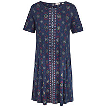 Buy Fat Face Folk Geo Dress, Navy Online at johnlewis.com