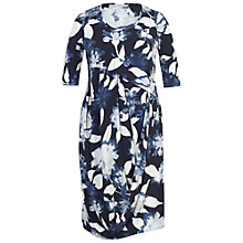 Buy Chesca Floral Print Jersey Dress, Navy Online at johnlewis.com
