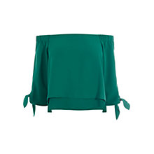 Buy Coast Leyli Bardot Top, Teal Online at johnlewis.com