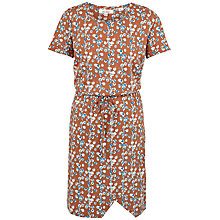 Buy Fat Face Cally Painted Bloom Dress, Ginger Online at johnlewis.com