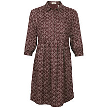 Buy Fat Face Lena Stitching Stars Dress, Ganache Online at johnlewis.com