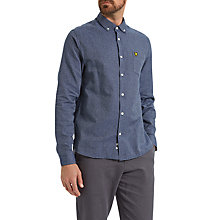 Buy Lyle & Scott Twill Mouline Shirt, Navy Online at johnlewis.com