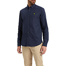 Buy Lyle & Scott Multi Coloured Running Stitch Shirt, Navy Online at johnlewis.com