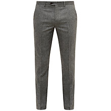 Buy Ted Baker Cramtro Herringbone Wool Trousers, Grey Online at johnlewis.com