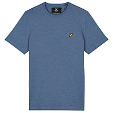 Buy Lyle & Scott Three Colour Mouline Crew Neck T-Shirt, Blue Steel Online at johnlewis.com