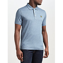 Buy Lyle & Scott Three Colour Mouline Polo Shirt, Blue Steel Online at johnlewis.com
