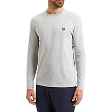 Buy Lyle & Scott Long Sleeve T-Shirt, Light Grey Marl Online at johnlewis.com