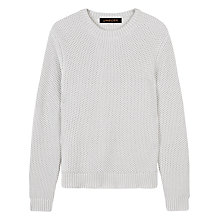 Buy Jaeger Chainmail Tuck Stitch Cotton Jumper Online at johnlewis.com