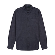 Buy Jaeger Cotton Denim Shirt, Indigo Online at johnlewis.com