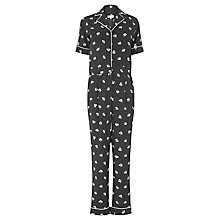Buy Warehouse Dandy Mono Jumpsuit, Black Pattern Online at johnlewis.com