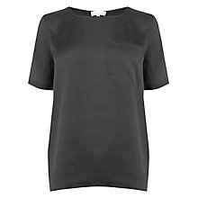 Buy Warehouse Satin Front T-Shirt Online at johnlewis.com