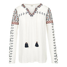 Buy Fat Face Sorrel Embroidered Top Online at johnlewis.com