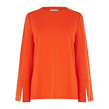 Buy Warehouse Split Sleeve Top, Bright Red Online at johnlewis.com