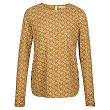 Buy Fat Face Stitching Stars Top, Golden Sand Online at johnlewis.com