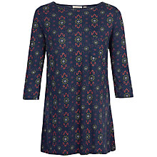 Buy Fat Face Freesia Folk Geo Floral Top, Navy Online at johnlewis.com