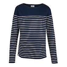 Buy Fat Face Issey Stripe Top, Navy Online at johnlewis.com