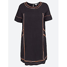 Buy Fat Face Chekkie Embroidered Dress, Phantom Online at johnlewis.com