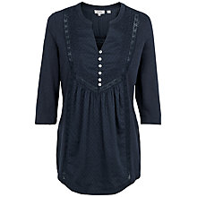 Buy Fat Face Milcombe Threequarter Top, Navy Online at johnlewis.com
