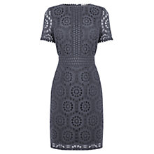 Buy Oasis Isla Lace Dress, Pale Grey Online at johnlewis.com