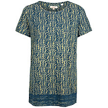 Buy Fat Face Newlyn Antique Woodblock Top, Vintage Blue Online at johnlewis.com