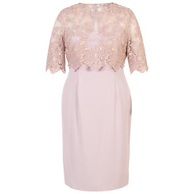 Chesca Scallop Edge Shift Dress, Lilac