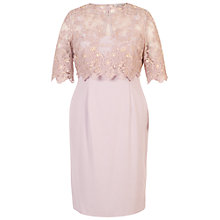 Buy Chesca Scallop Edge Shift Dress, Lilac Online at johnlewis.com